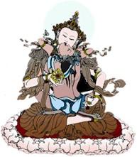 Yab-Yum, o casal tântrico, na tradição tibetana. Representa o Yin-Yang, o dualismo macrocósmico, porém também uma indicação da relação sexo-espiritualidade