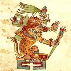 Imagem tirada do Códice Dresden, mostrando um Cavaleiro da Ordem dos Tigres