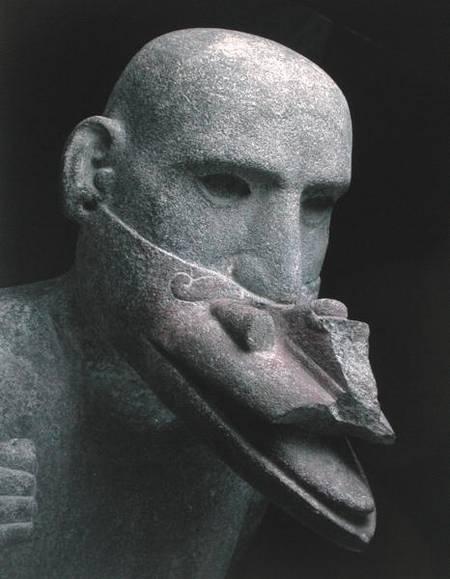 Estátua do Deus do Vento Ehecatl, Usando Máscara Sagrada que Lembra o Bico de um Pássaro. Museu de Antropologia do México, DF