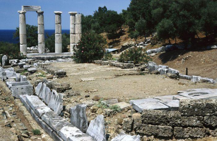 Templo dos 8 Kabires e da Deusa Vitória, na ilha de Samotrácia, Grécia