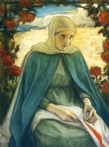The-Virgin-Mary-In-The-Rose-Garden