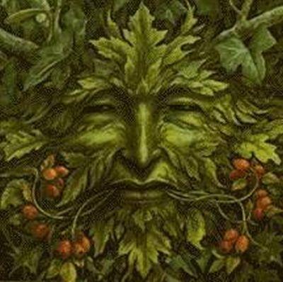 O HOMEM VERDE, REPRESENTAÇÃO DAS FORÇAS INSTINTIVAS DA MÃE NATUREZA. Uma das representações de Cernunno, o grande Deus Cornífero, poderoso Deva que rege as florestas, os faunos e outros seres fantásticos