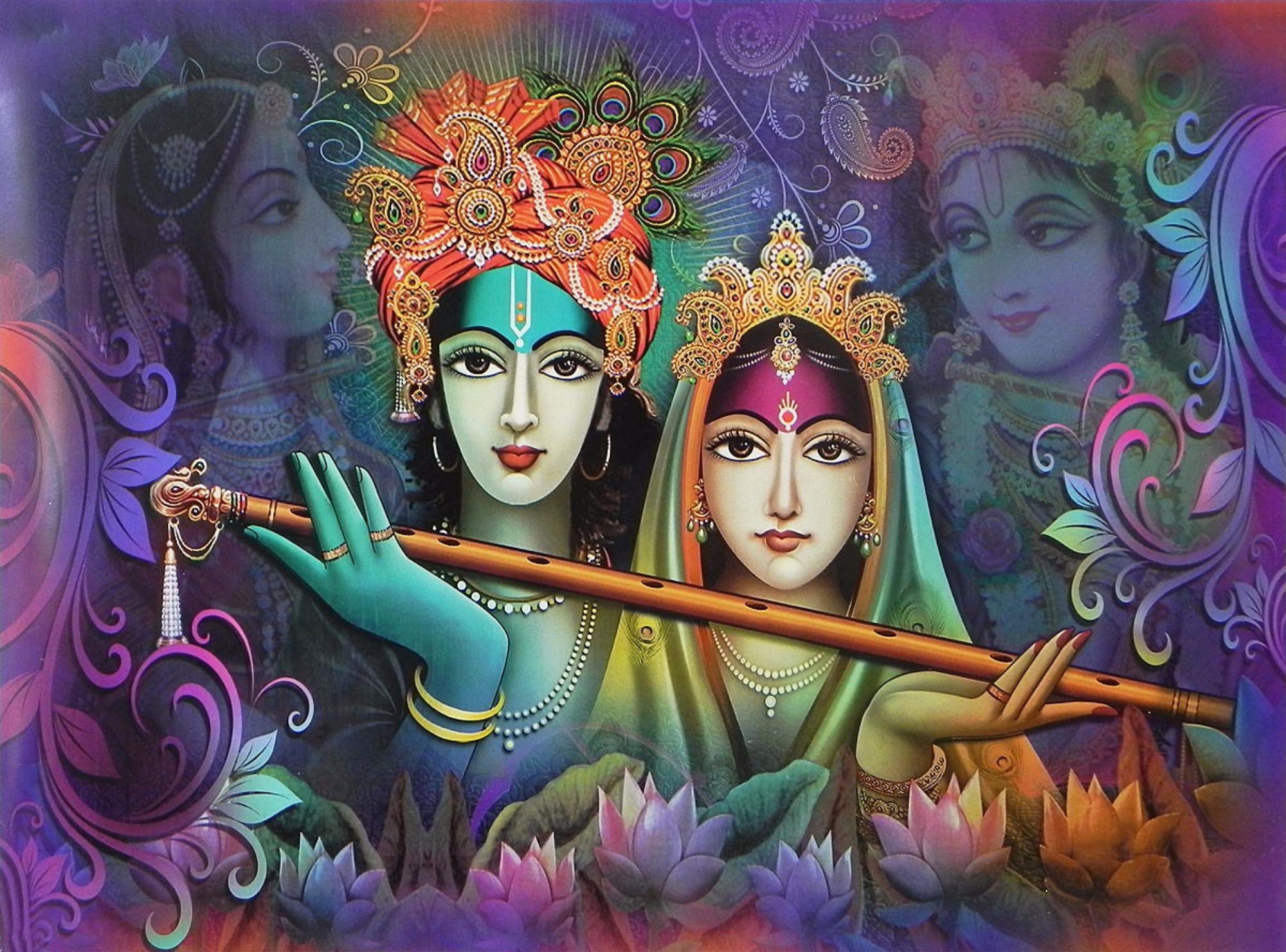 Radha e Krishna, o casal sagrado da Índia, que personifica o ideal de todos os casais