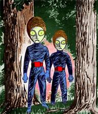 Aliens vistos por Rapuzzi Johannis