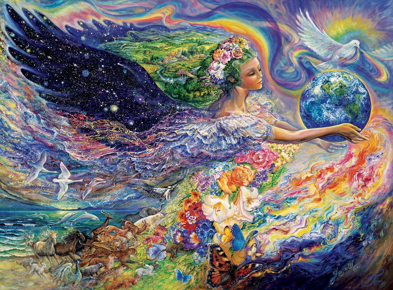 O aspecto materno de Deus se expressa em toda a Criação, dentro e fora do ser humano, e podemos sentir nossa Mãe Divina como Amor, Santidade e Abundância